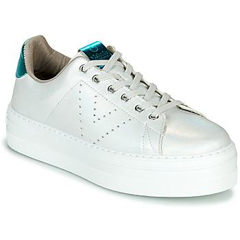 Schoenen Dames Lage sneakers Victoria BARCELONA METAL Wit