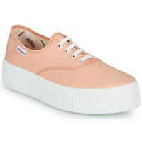 Schoenen Dames Lage sneakers Victoria DOBLE LONA Koraal