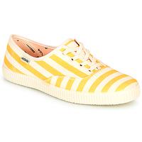 Schoenen Dames Lage sneakers Victoria NUEVO RAYAS Geel / Wit