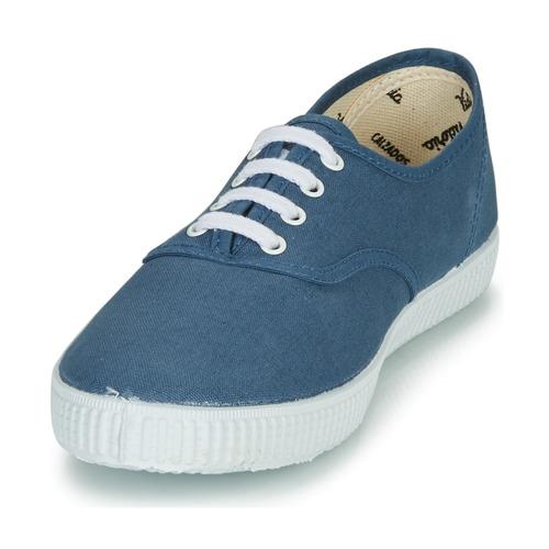 Victoria Inglesa Lona Blauw - Gratis Levering Schoenen Lage Sneakers 2899