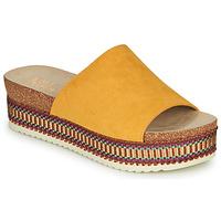 Schoenen Dames Leren slippers Bullboxer 886014F1TAMUST Oranje