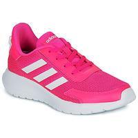 Schoenen Meisjes Lage sneakers adidas Performance TENSAUR RUN K Roze / Wit