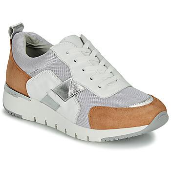 Schoenen Dames Lage sneakers Caprice BEBENE Wit / Camel