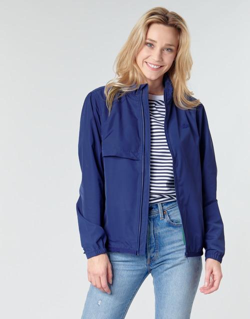 Textiel Dames Wind jackets Lacoste MAHYRA Marine