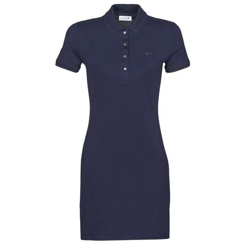 Textiel Dames Korte jurken Lacoste SOLENE Marine