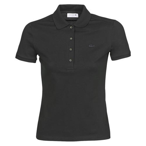 Textiel Dames Polo's korte mouwen Lacoste PH5462 SLIM Zwart