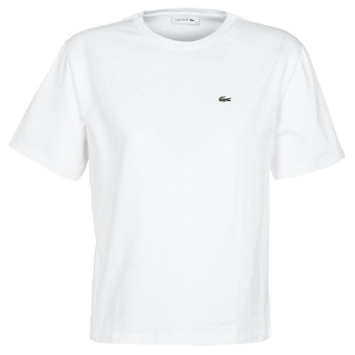 Textiel Dames T-shirts korte mouwen Lacoste BENOIT Wit