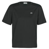 Textiel Dames T-shirts korte mouwen Lacoste  Zwart