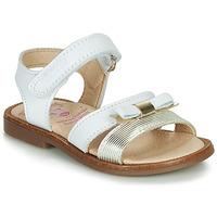Schoenen Meisjes Sandalen / Open schoenen Pablosky LOLLA Wit / Goud