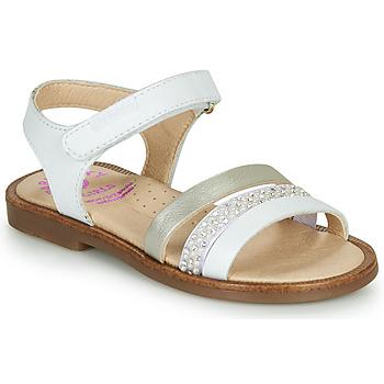 Schoenen Meisjes Sandalen / Open schoenen Pablosky  Wit / Parel