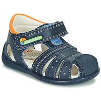 Schoenen Jongens Sandalen / Open schoenen Pablosky  Marine / Oranje