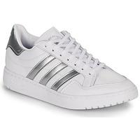 Schoenen Dames Lage sneakers adidas Originals MODERN 80 EUR COURT W Wit / Zilver
