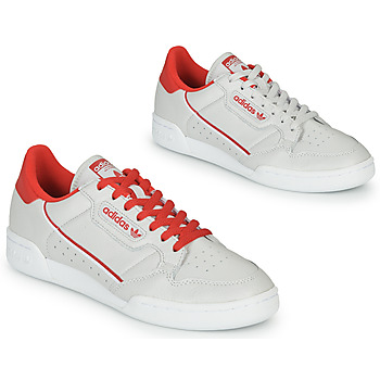 Schoenen Lage sneakers adidas Originals CONTINENTAL 80 Beige / Rood