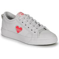 Schoenen Dames Lage sneakers adidas Originals NIZZA TREFOIL W Wit