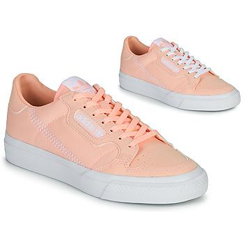 Schoenen Meisjes Lage sneakers adidas Originals CONTINENTAL VULC J Roze