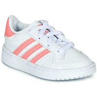 Schoenen Meisjes Lage sneakers adidas Originals NOVICE EL I Wit / Roze
