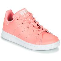 Schoenen Meisjes Lage sneakers adidas Originals STAN SMITH C Roze