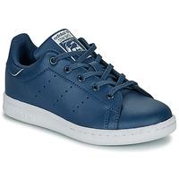 Schoenen Jongens Lage sneakers adidas Originals STAN SMITH C Blauw