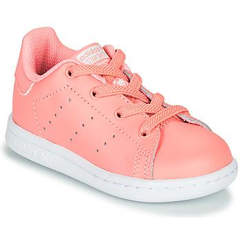 Schoenen Meisjes Lage sneakers adidas Originals STAN SMITH EL I Roze