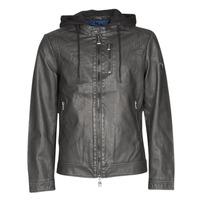Textiel Heren Leren jas / kunstleren jas Guess VINTAGE ECO-LEATHER JKT Zwart