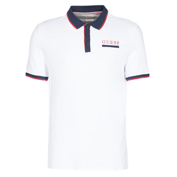 Textiel Heren Polo's korte mouwen Guess LES SS POLO Wit