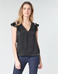 Textiel Dames Tops / Blousjes Guess SS DAHAB TOP Zwart