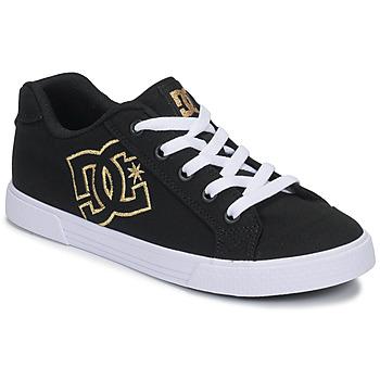 Schoenen Dames Lage sneakers DC Shoes CHELSEA TX Zwart / Goud