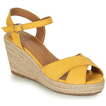 Schoenen Dames Sandalen / Open schoenen Tom Tailor 8090105 Geel