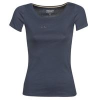 Textiel Dames T-shirts korte mouwen Esprit T-Shirts logo Marine