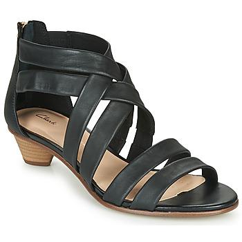 Schoenen Dames Sandalen / Open schoenen Clarks MENA SILK Zwart