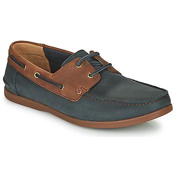 Schoenen Heren Derby Clarks PICKWELL SAIL Marine / Bruin