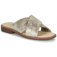 Schoenen Dames Leren slippers Clarks DECLAN IVY Zilver