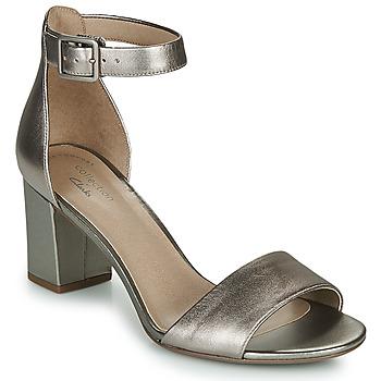 Schoenen Dames Sandalen / Open schoenen Clarks DEVA MAE Zilver