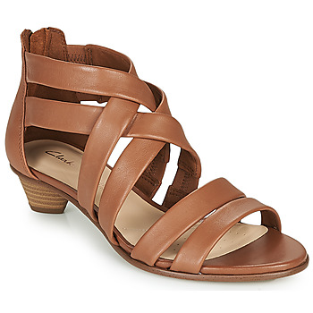 Schoenen Dames Sandalen / Open schoenen Clarks MENA SILK Camel