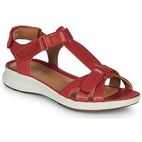Schoenen Dames Sandalen / Open schoenen Clarks UN ADORN VIBE Rood