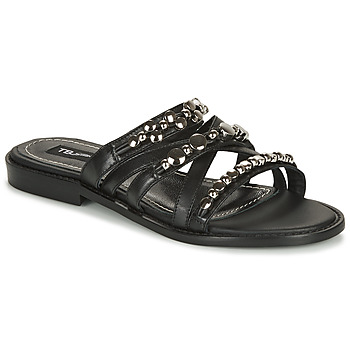 Schoenen Dames Leren slippers Tosca Blu CUBA Zwart