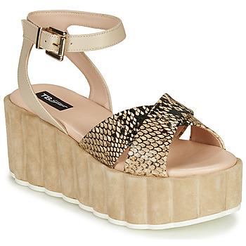 Schoenen Dames Sandalen / Open schoenen Tosca Blu MOOREA Beige / Slang