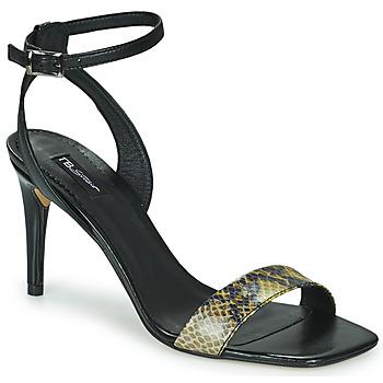 Schoenen Dames Sandalen / Open schoenen Tosca Blu LA-DIGUE Zwart / Slang / Geel