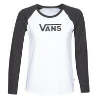 Textiel Dames T-shirts met lange mouwen Vans FLYING V LS RAGLAN Wit / Zwart