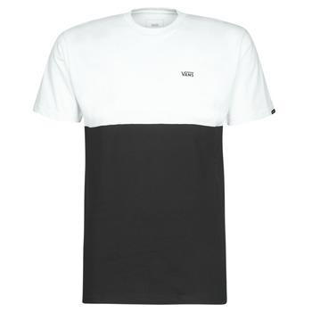 Textiel Heren T-shirts korte mouwen Vans COLORBLOCK TEE Zwart / Wit