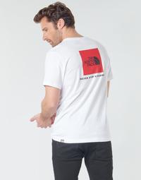 Textiel Heren T-shirts korte mouwen The North Face S/S REDBOX Wit