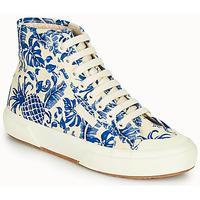 Schoenen Dames Hoge sneakers Superga 2295-COTFANW Beige / Blauw