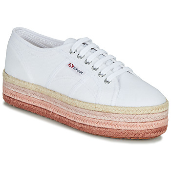 Schoenen Dames Lage sneakers Superga 2790-COTCOLOROPEW Wit / Roze