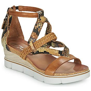 Schoenen Dames Sandalen / Open schoenen Mjus TAPASITA Bruin / Python