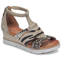 Schoenen Dames Sandalen / Open schoenen Mjus TAPASITA Taupe / Luipaard