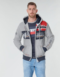 Textiel Heren Sweaters / Sweatshirts Geographical Norway FLYER Grijs / Gevlekt
