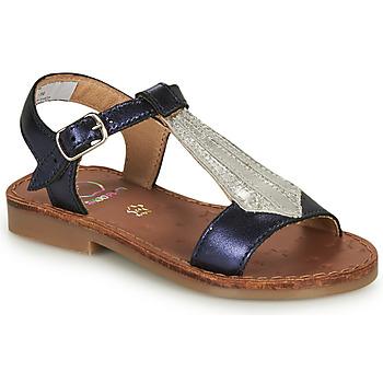 Schoenen Meisjes Sandalen / Open schoenen Shoo Pom HAPPY TIE Blauw / Zilver