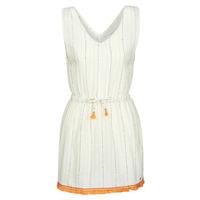 Textiel Dames Korte jurken Banana Moon MARZUL MANDALO Wit / Oranje