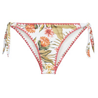 Textiel Dames Bikinibroekjes- en tops Banana Moon DIMKA LAHAINA Wit / Oranje