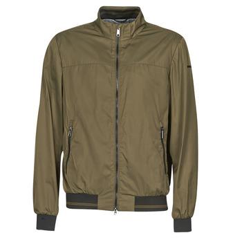 Textiel Heren Wind jackets Geox TEVERE BOMBER Groen / Brons